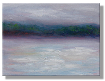 Sunrise oil sketch - 25 Feb 10