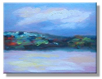 Sunrise oil sketch - 26 Feb 2010 - Eileen (Eibhlin) Eilis Morey, artist