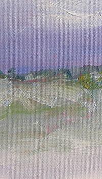 Detail - 'Still Snowing' oil sketch