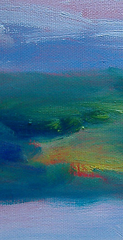 Details of an early morning oil sketch - NH - Eileen Morey, artist
