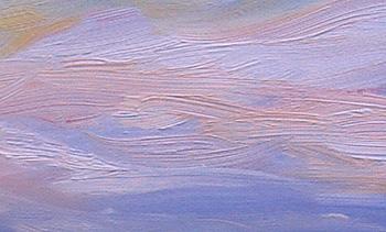 Sunset painting - sky detail - 3 Mar 2010 - Eileen Morey, artist