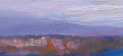 Sunrise study - detail - NH - Eileen Morey - oil paintings