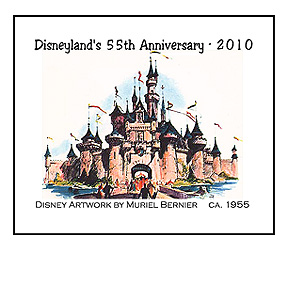 Disneyland's Fantasyland castle - artwork by Muriel Bernier, ca. 1955