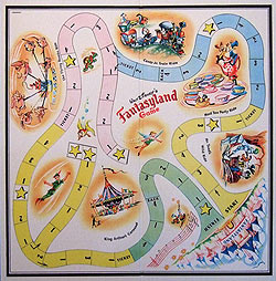 Fantasyland game board - artwork by Muriel Bernier