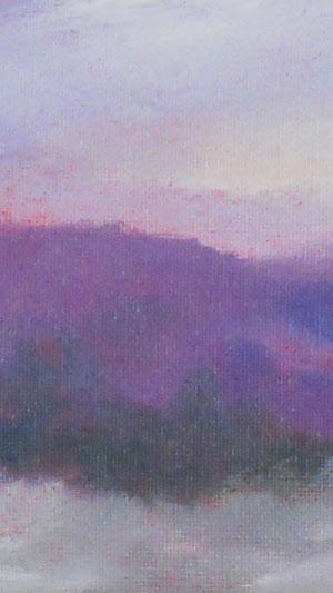 drifting NH snow - hillside landscape painting