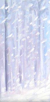 Oil sketch – Blizzard 2010
