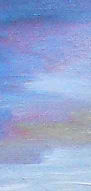 sky detail - New Year's Eve landscape painting 2010