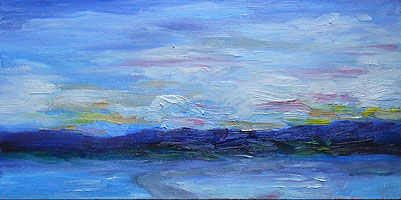 Sunrise oil sketch - 31 Dec 2010 - NH