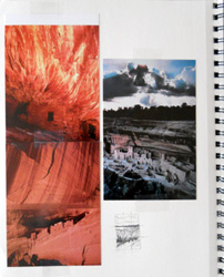 Artist's journal references for an Anasazi-related painting