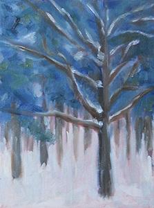 Snowy Tree – In Progress