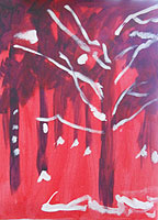Winter tree - acrylic sketch