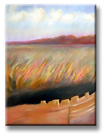 Anasazi painting - landscape for Frank