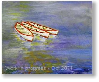 Boat painting - in progress - October 2011 version