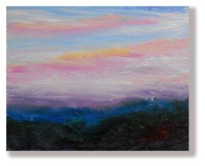 Sunset oil sketch - NH - Nov 2011