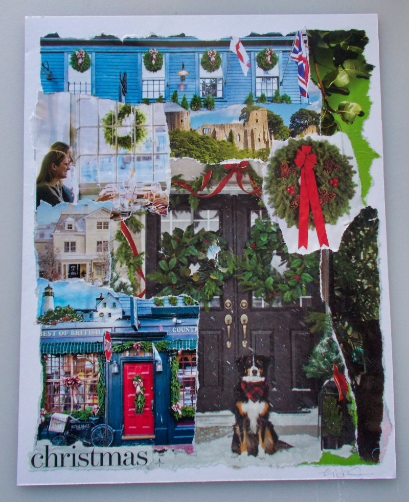 Collaged Vision Board – Christmas