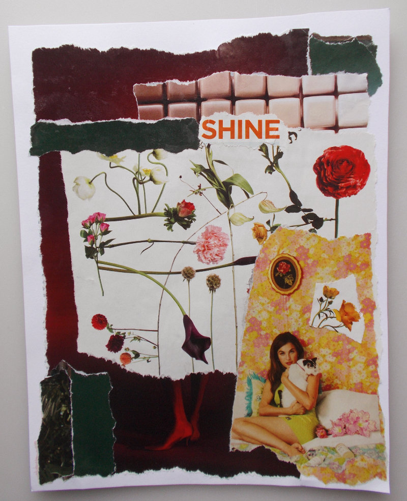 Shine – Collage About Authenticity and Confidence