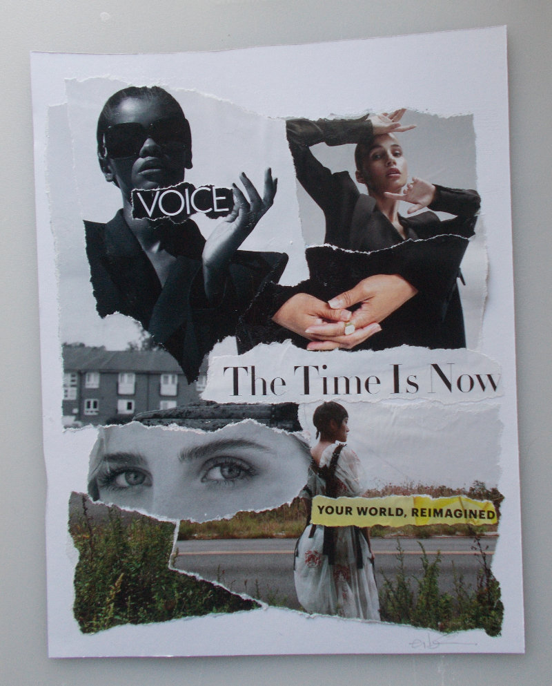 Voice – The Time is Now – Torn-Paper Collage