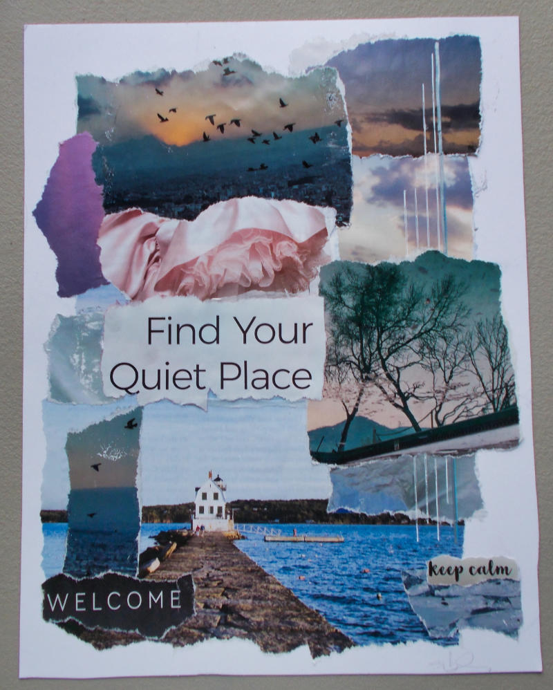 Find Your Quiet Place – Torn-Paper Collage