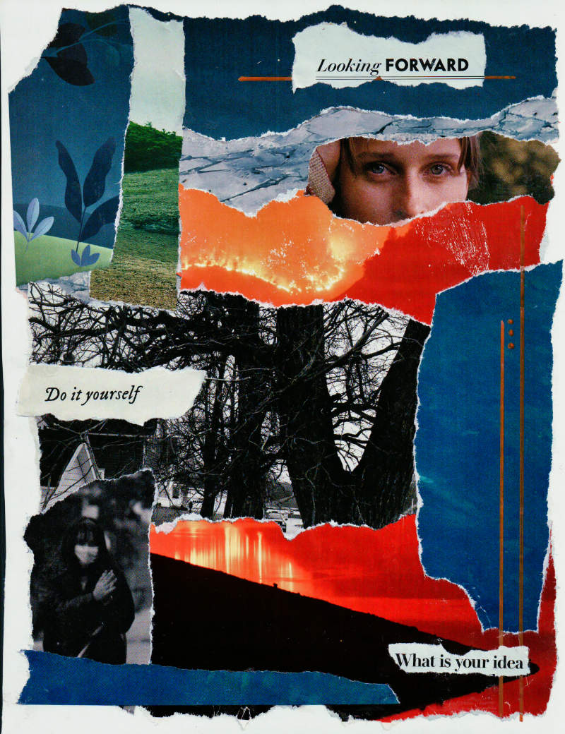 Looking Forward – Collage About Uncertainty