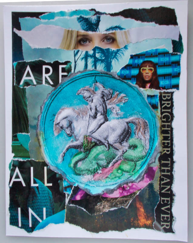 St. George – All In! Mixed Media Collage