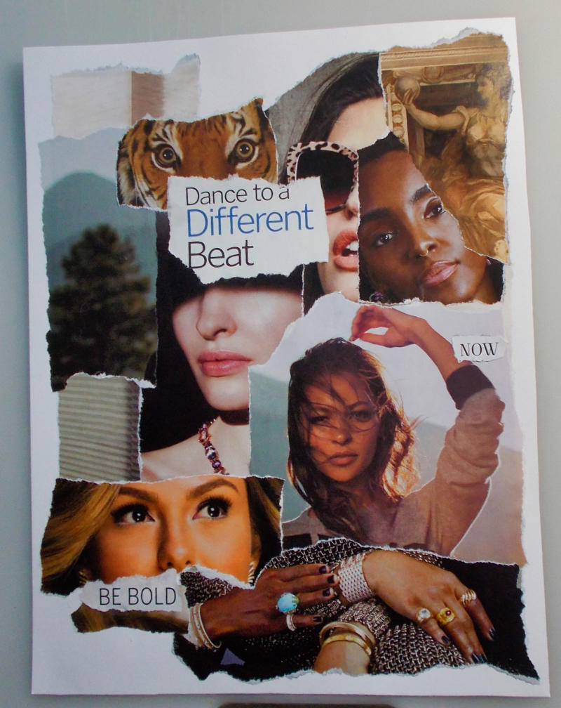 Dance to a Different Beat – Torn Paper Collage and Artist's Comments