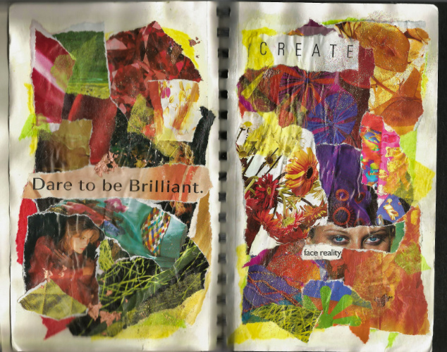 Dare to Be – 2002 Torn-Paper Collage