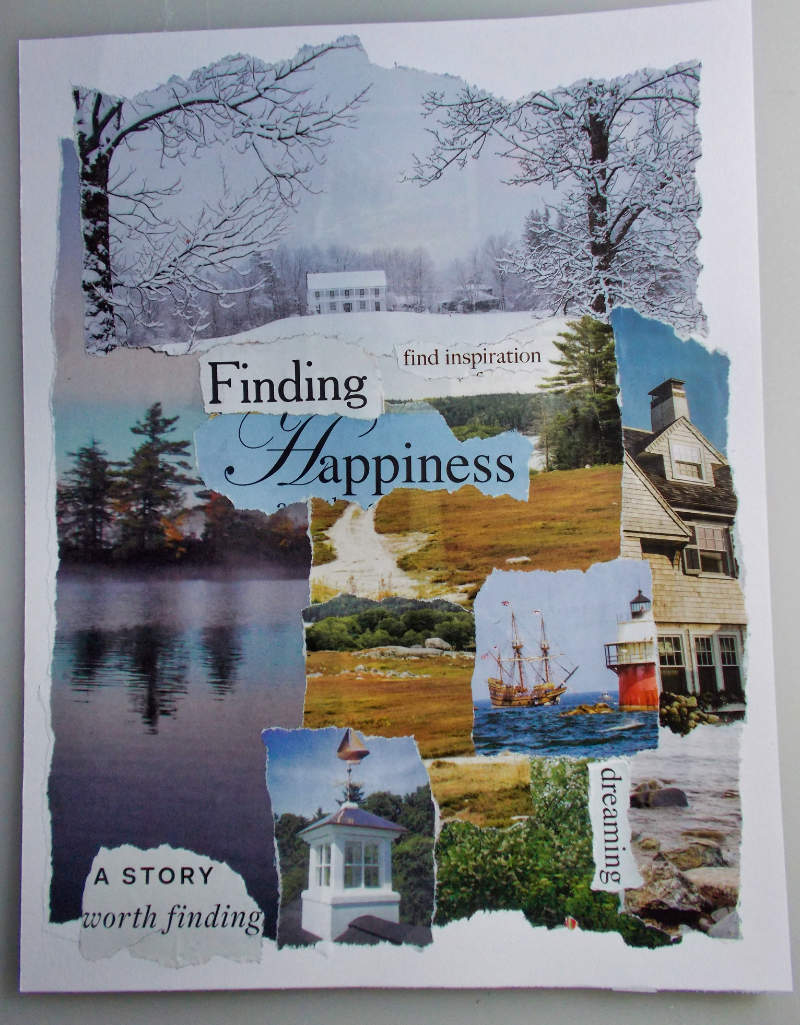 Finding Happiness – Torn Paper Collage