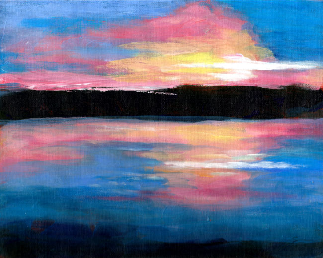 Final sketch for the Lake Winnisquam triptych edits
