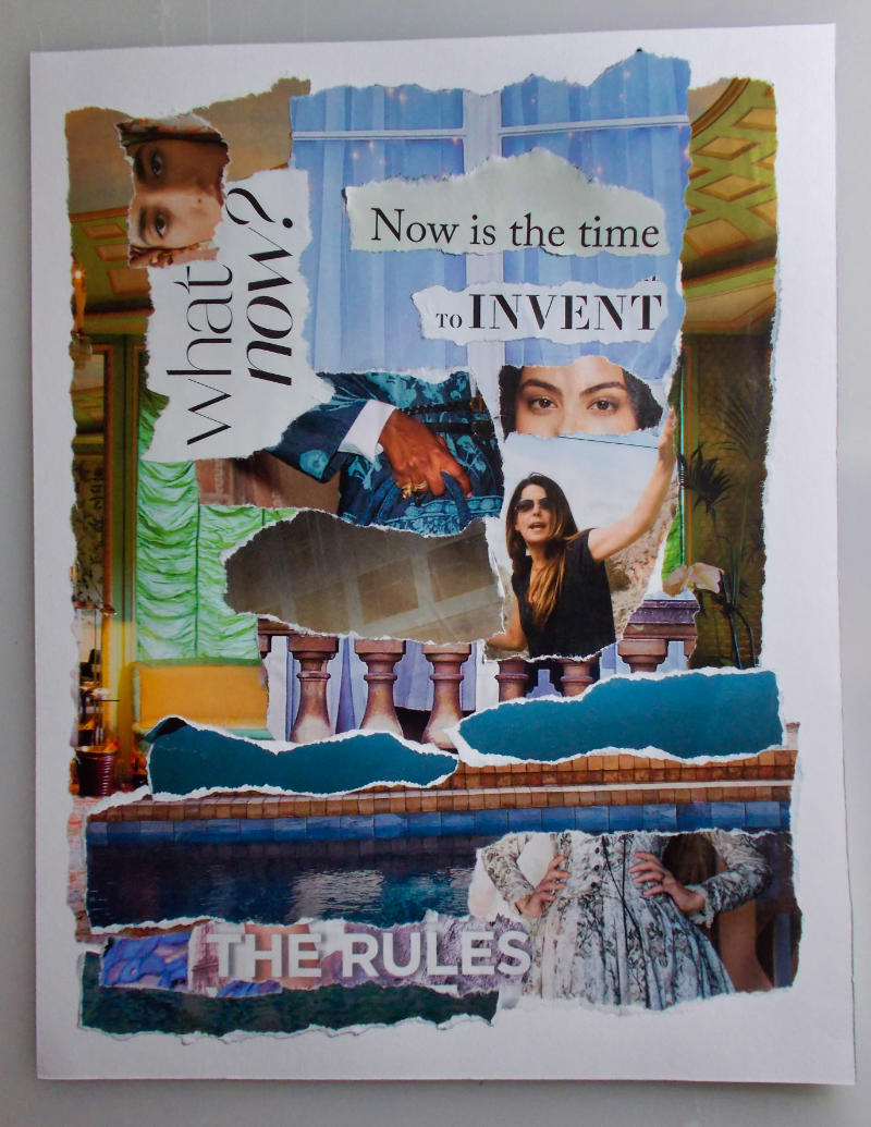 Now Is The Time – Torn Paper Collage with Artist's Notes