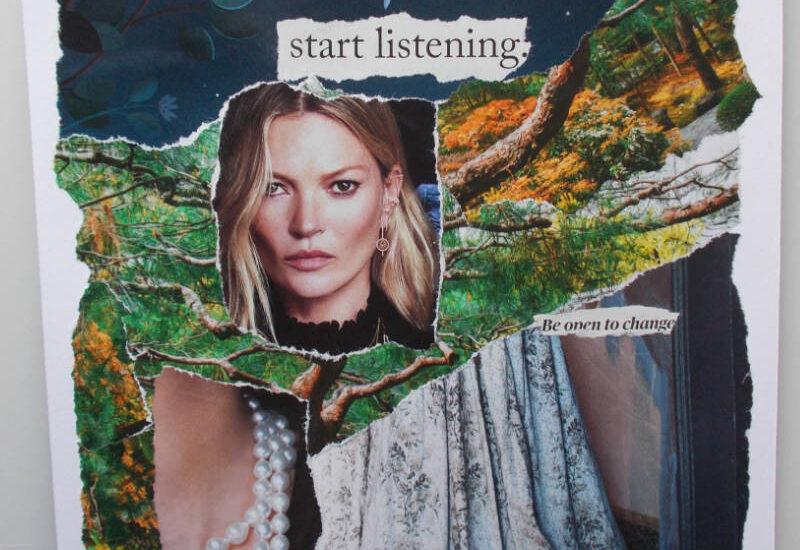 We speak - start listening - torn paper collage by eibhlin