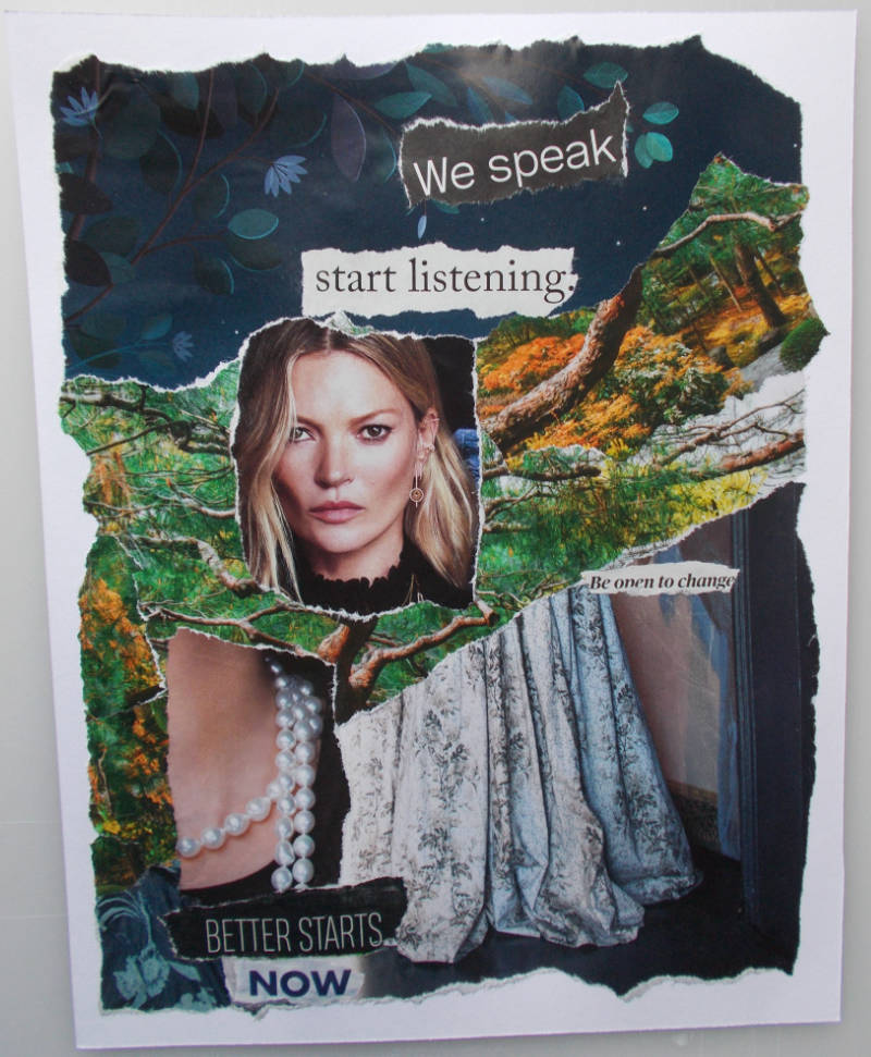 Better Starts Now – Torn-Paper Collage